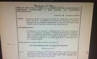 HOY /  Por polémica con pasaportes   diplomáticos a políticos y sus  familiares obliga a revisión