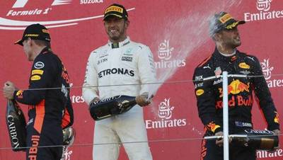 Lewis Hamilton se quedó con el Gran Premio de Japón