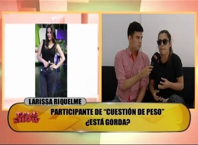 """Larissa Riquelme se sumó a """"Cuestión de Peso"""""""