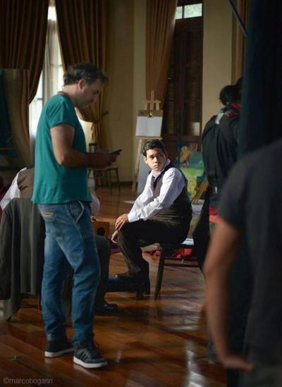 Celso Franco orgulloso de interpretar a la versión joven de Mangoré. Lamentó que los artistas sean desvalorizados en su país.