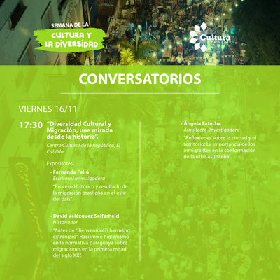 Conversatorio sobre diversidad cultural y migración este viernes