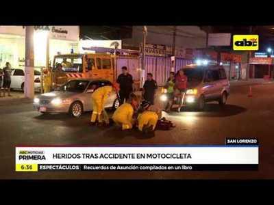 Heridos tras accidente en motocicleta