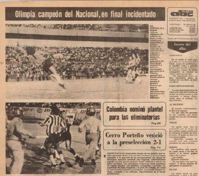 Olimpia, primer campeón Nacional