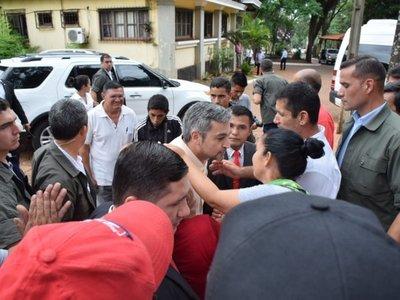 Mario Abdo visita a interventora de la Comuna de Ciudad del Este