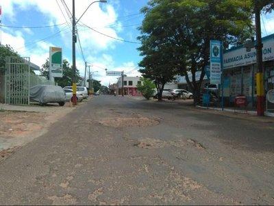 El estado de las calles brinda un mal aspecto a Horqueta