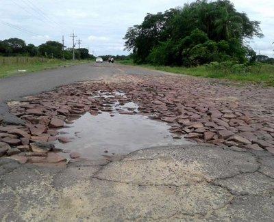 Pésimo estado de tramo Isla Umbú-Pilar