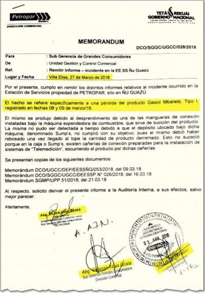 Ocultaron pérdida de gasoíl en el surtidor Petropar