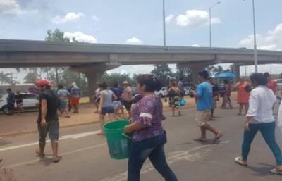 Protesta por la falta de agua