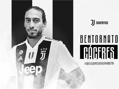 Juventus oficializa la llegada de Martín Cáceres