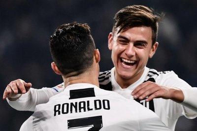 Dybala y Cristiano liquidan al Frosinone