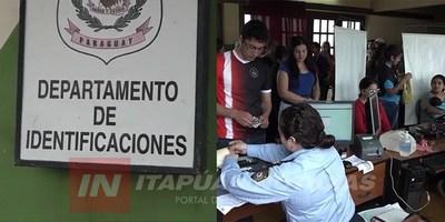 ENCARNACIÓN: BARRIDA TOTAL EN DEPARTAMENTO DE IDENTIFICACIONES