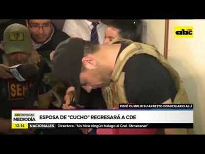 Esposa de Cucho Cabaña regresará a CDE