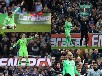 Sarri deja a Kepa en el banquillo contra el Tottenham