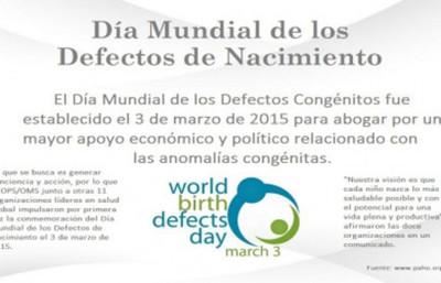 3 de marzo: Día Mundial de los Defectos al Nacer