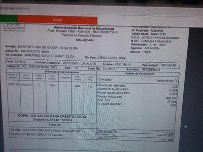 ANDE recibió  6.000 denuncias pero solo 3 eran por error del medidor, alegan