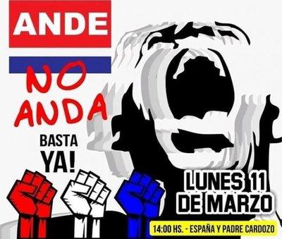 """Ciudadanos invitan a participar de la protesta """"ANDE, no ANDA"""""""