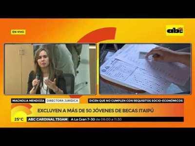 Excluyen a más de 50 jóvenes de becas de Itaipú