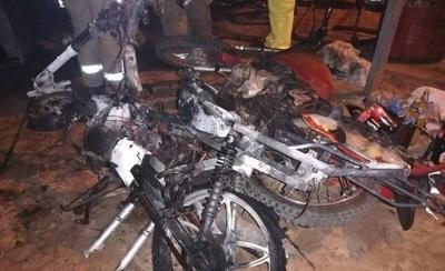 Incendian taller de motos y causan pérdida de G. 10 millones