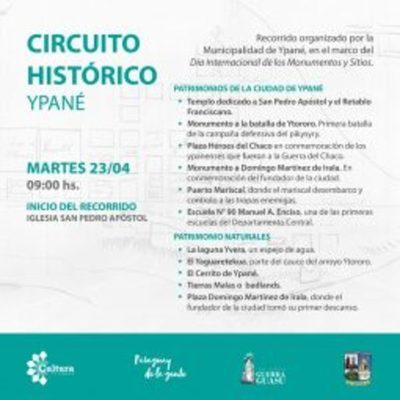 Ypané, Concepción y Pilar organizan recorridos por Día Internacional de los Monumentos