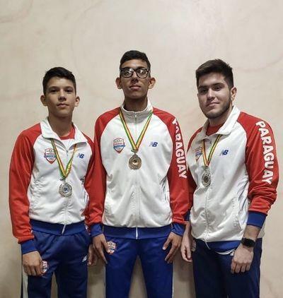 Las medallas paraguayas del Sudamericano de karate