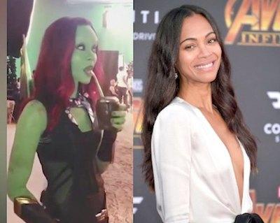 """Gamora, de """"Avengers"""", se mostró ¡mateando!"""
