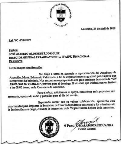 Dinero de Itaipú también habría ido a Iglesia Católica