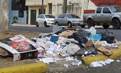 Basura en toda Asunción