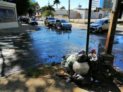 Aguas servidas en Villamorra