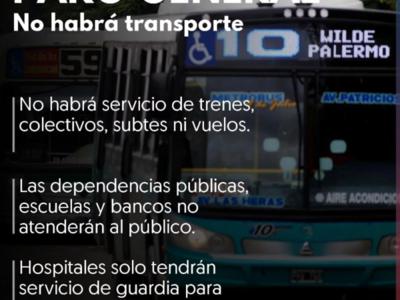 Otro paro general en Argentina