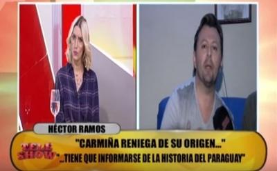 """Héctor Ramos filoso con Carmiña: """"Anda viví a Clorinda"""""""