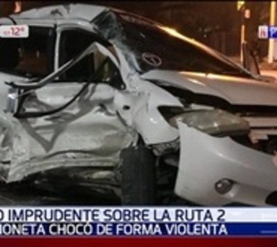 Heridos tras violento accidente sobre Ruta 2
