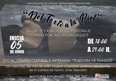 Escuela de teatro inicia taller en Itauguá