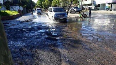 Calles invadidas por las aguas