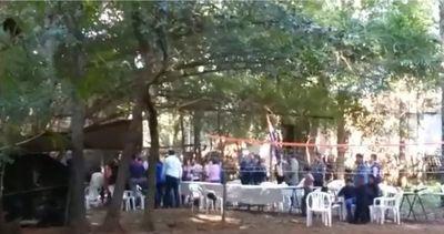 Itauguá: no hubo invasión de terreno, sino una comilona, dice la Policía