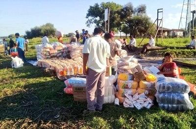 Entregaron 9,100 kg de víveres a familias indígenas de Pdte. Hayes