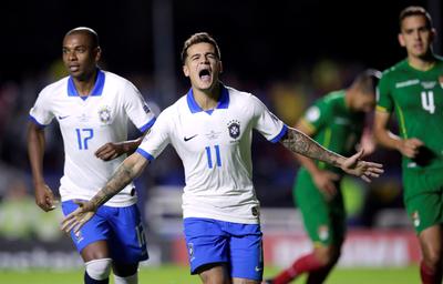 Brasil arranca su copa superando a Bolivia