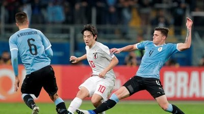 Japón sorprende y empata a Uruguay