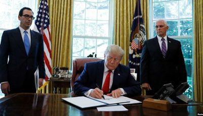 Trump firma orden ejecutiva con nuevas sanciones contra Irán