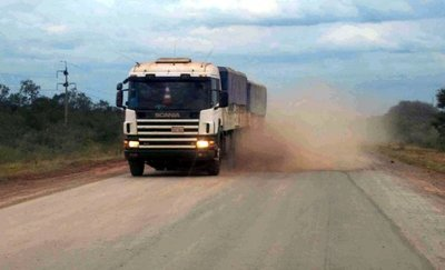 Mucho polvo en la Transchaco