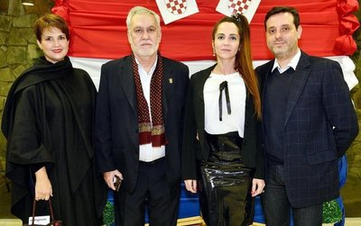 Celebración por fiesta patria de la República de Croacia