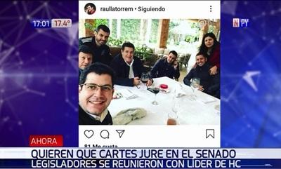 Llamativa reunión entre legisladores y Horacio Cartes