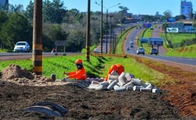 Construyen primeras intersecciones de desvío en el Km 7