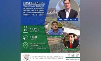 Realizarán Conferencia Magistral sobre revisión de Tratado de Itaipu