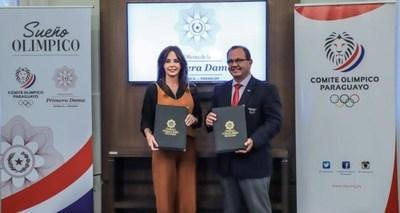 """La Oficina de la Primera Dama y el Comité Olímpico Paraguayo lanzan el proyecto """"Sueño Olímpico"""""""