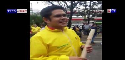 Taxista manoseó a periodista en medio de disturbios