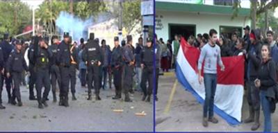 Conflicto en municipio de Villa Hayes tras pedido de intervención