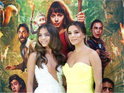 Eva Longoria e Isabela Moner brillan en estreno de Dora