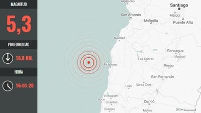 Al menos 14 réplicas de magnitudes entre 5,3 y 3,0 tras sismo de 6,6 en Chile