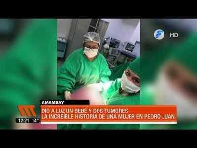 Increíble historia: Dio a luz a un bebé y a la par le extirparon dos tumores