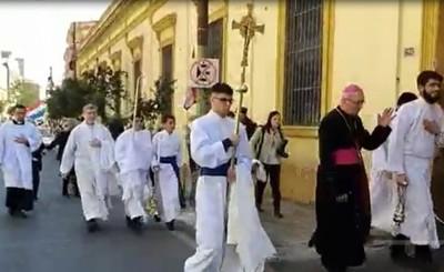Monseñor aclaró que no hubo agresiones de escrachadores